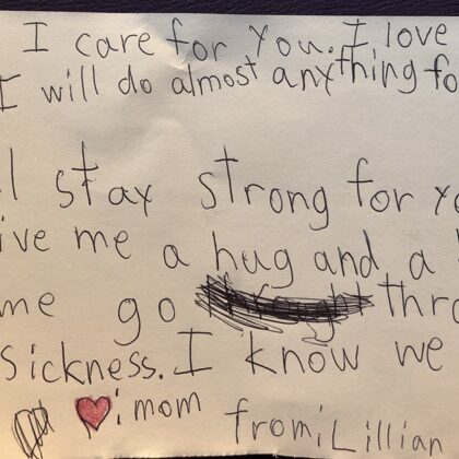 Lillian's message to mom