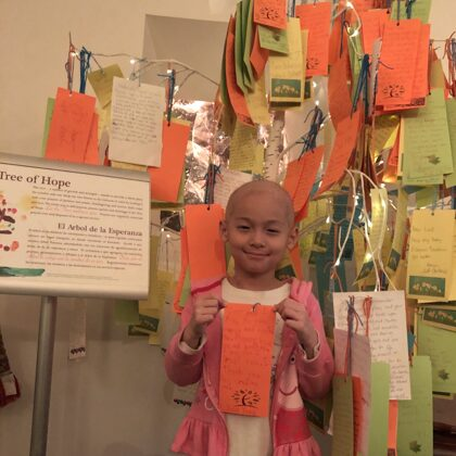 The tree of hope, in the chapel in the children hospital